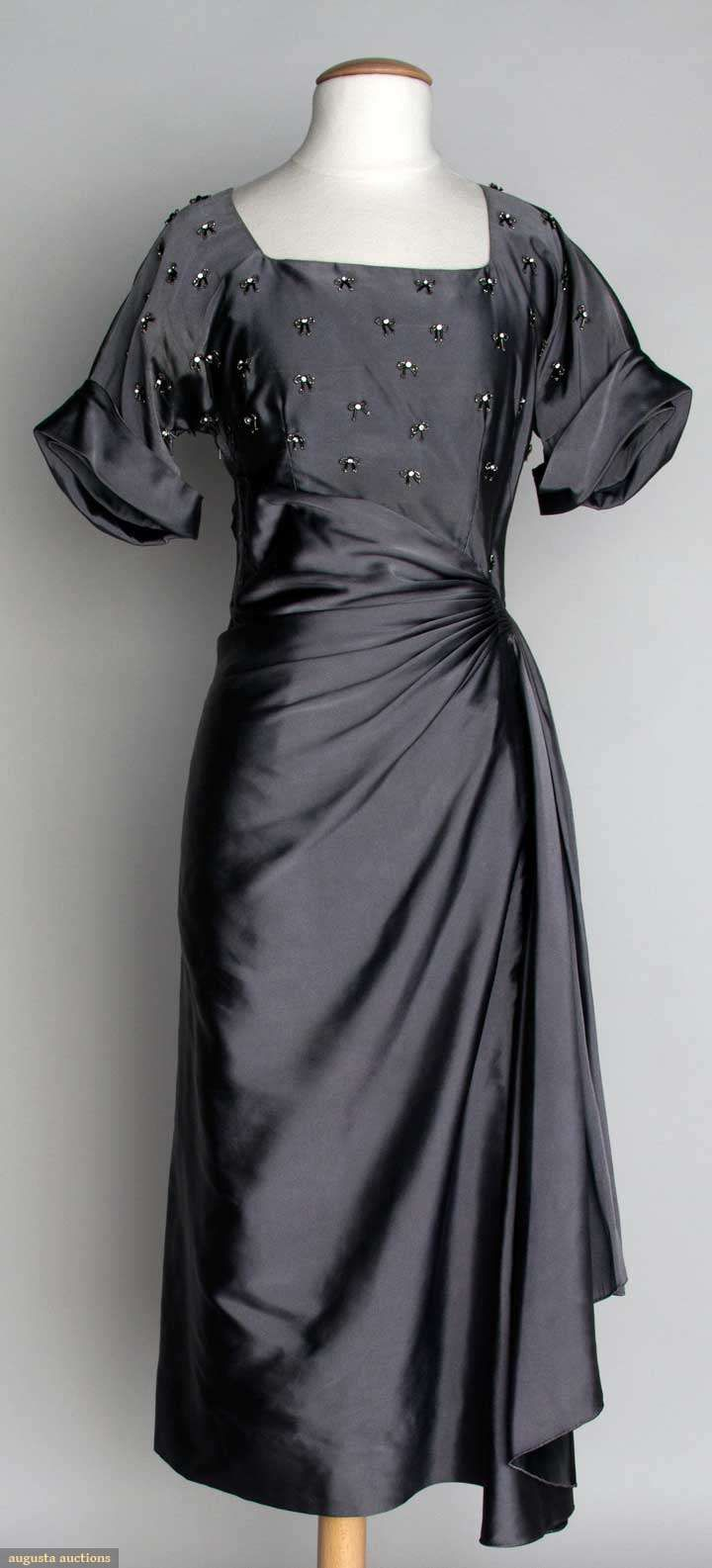 Jo Copeland Cocktail Dress, 1940s, Augusta Auctions, November 13, 2013 - NYC…