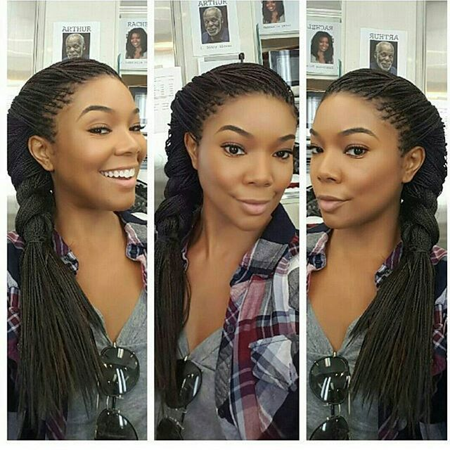 When @gabunion makes you want single braids  #blackbeauty #braids #singlebraids