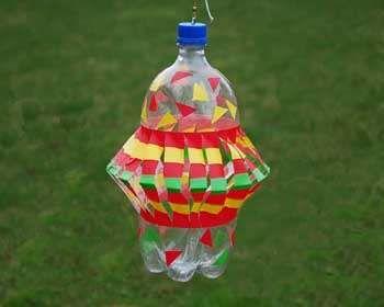 Make a funky folk art wind spinner from an old plastic bottle.