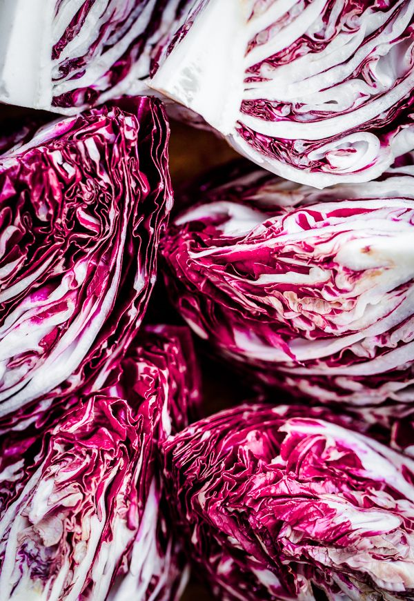 Grilled Radicchio with Fig Balsamic Syrup, Parmigiano, and Honey-Roasted Almonds