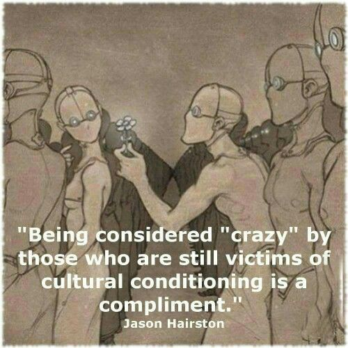 #INTJ #truth So many times when people call me weird or crazy, I take it as a compliment that I am not like them.