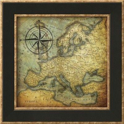 'Europa' by Jace Grey Framed Graphic Art