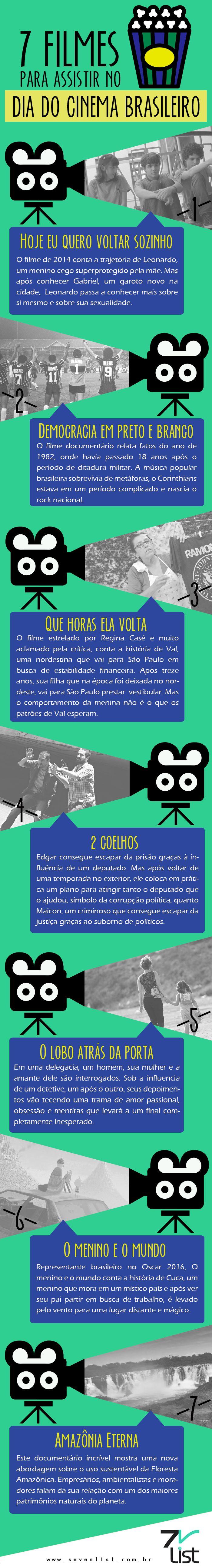 #Cinema #Brasil #Filmes #Entretenimento #Infográficos #Movies www.sevenlist.com.br