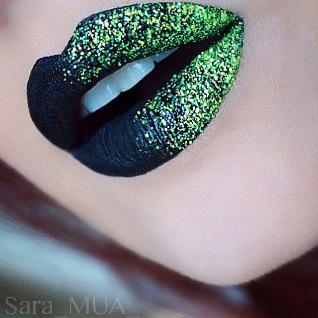 """Woww LIPS BY @sara_mua_ UISNG GO NEON AND MARYJANE GLITTER INJECTION LOVEEEEE IT  XOX LUVS"""