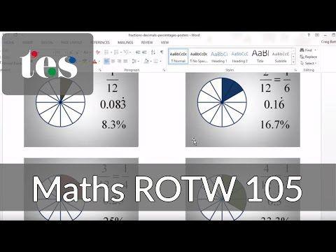 Fraction Images - TES Maths ROTW 105 - Mr Barton Maths Blog