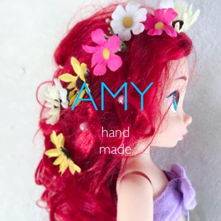 ハンドメイドのヘアアクセサリーです。  画像一枚目はアニメータードール アリエルをモデルに使用しています(*^^*) 三枚目は黒髪、ラプンツェル風のアレンジです!   お花ピン4個 パールピン1個 計5個セットのお値段です♡   小さいお子様に、憧れのプリンセスに♡ 特別なお出かけに♡  大きいお人形をお持ちであれば、普段はおままごとやお人形遊びにもお使いいただけます。  即購入OK!  ディズニー プリンセス ラプンツェル アリエル シンデレラ ベル アナ エルサ オーロラ姫 フラワー アクセサリー 春 夏 花 結婚式 キッズ  コスプレ 花かんむり 花ピン ヘアゴム キッズ 女の子 発表会 ピアノ バレエ 衣装 手作り