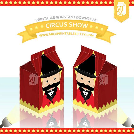 Magical Circus Show Printable Party Favor by MicaPrintables