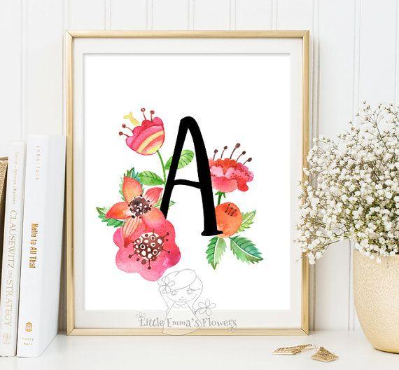 Blumen-Custom bestellen Kindergarten Brief Monogramm Kunst