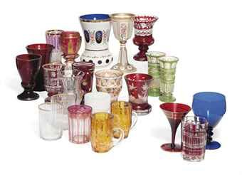 TWENTY THREE BOHEMIAN GLASS BEAKERS AND GOBLETS  LATE 19TH CENTURY  Price realised  GBP 1,500