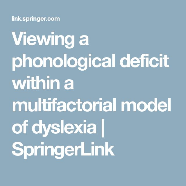 dyslexia phonological deficit Dyslexia research is now facing an intriguing paradox: it is becoming increasingly clear that a significant proportion of dyslexics present sensory and motor deficits.