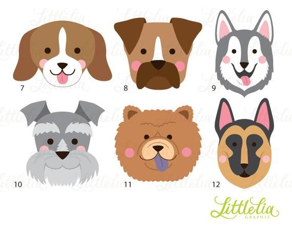 Dog Head Clipart Dog Face Clipart 16070 Etsy Dog Face Puppy Clipart Dog Crafts