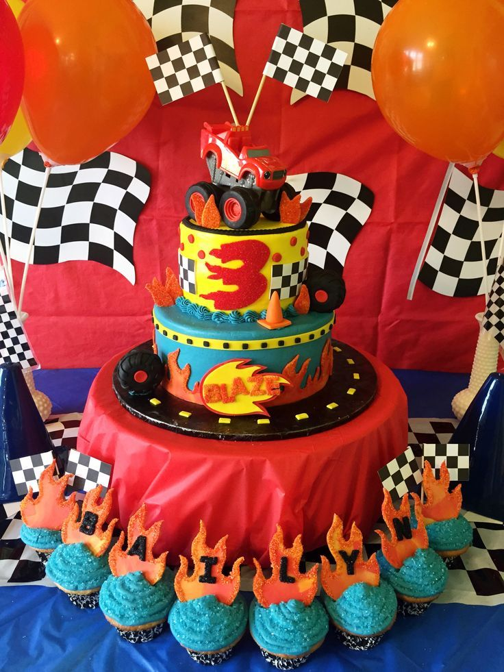 52 best images about zays 4th birthday blaze or circus for Table 52 hummingbird cake