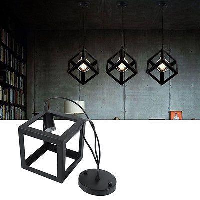 Modern-Matt-Black-Loft-Pingente-Teto-Lampada-Retro-Edison-Luz-Lustre-Quadrado