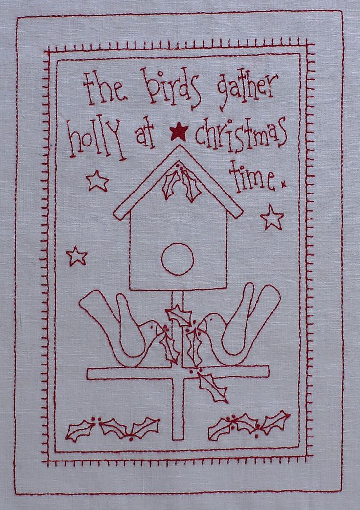 Redwork Quilt Patterns Christmas : 916 best Christmas Stitching images on Pinterest ...