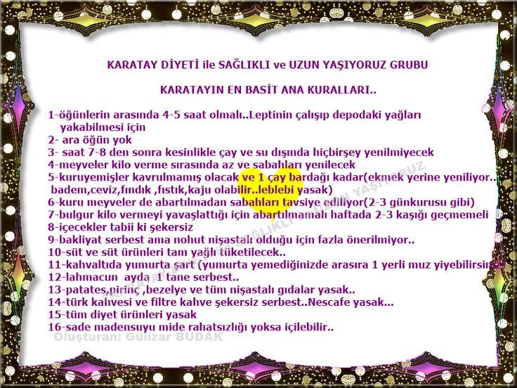 Gülizar * Sultan: Karatay Kuralları