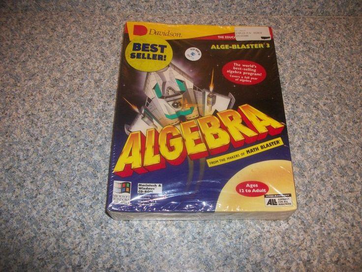 Alge-Blaster 3 PC 1995 Algebra Game CD Rom DAVIDSON FACTORY SEALED Free Shipping #Davidson