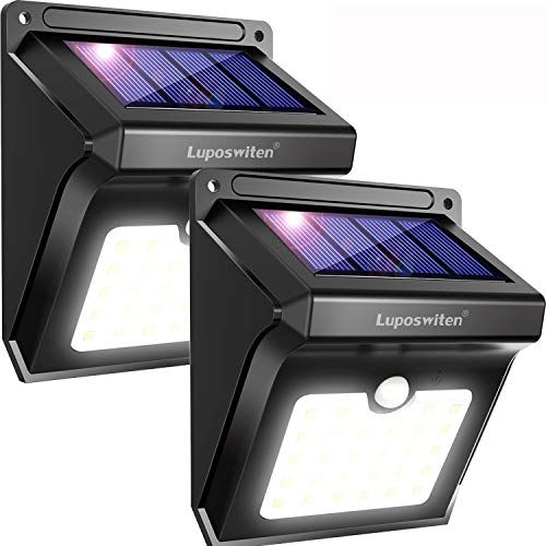 Focos Solares Luposwiten 100 Led Lamparas Solar Exterior Con Sensor De Movimiento 2000 Lm Il Luces Solares Iluminacion Solar Al Aire Libre Luces De Seguridad