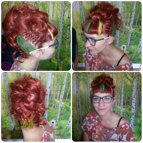 Crazy party hair style