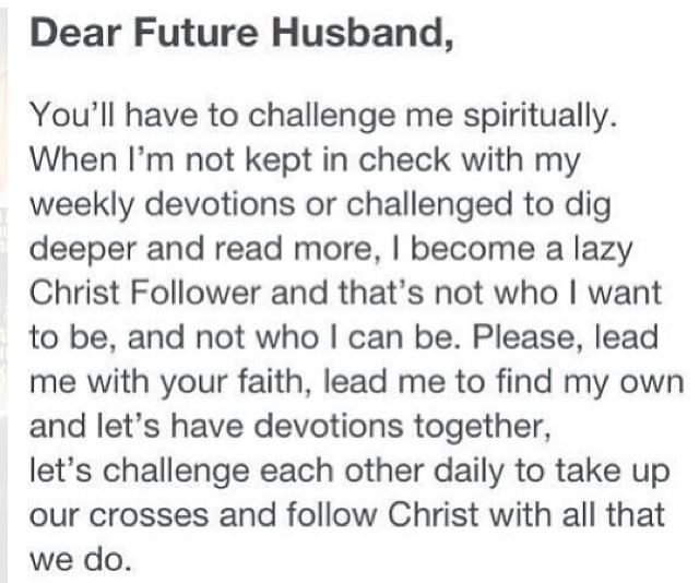 Dear future husband...