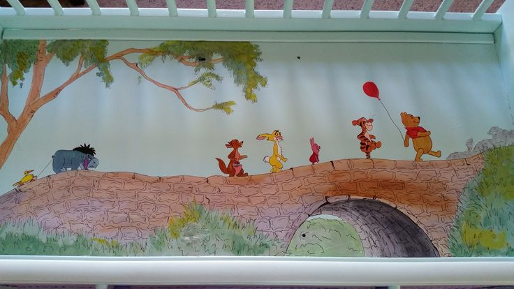 Custom painted changing table! Winnie The Pooh Theme!