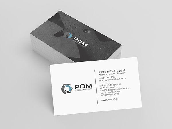 business card design - steel construction company - rebranding by brandoteka