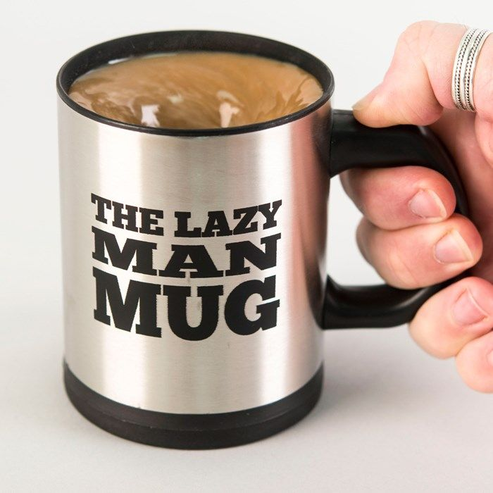 Lazy Man Self-Stirring Mug | GettingPersonal.co.uk