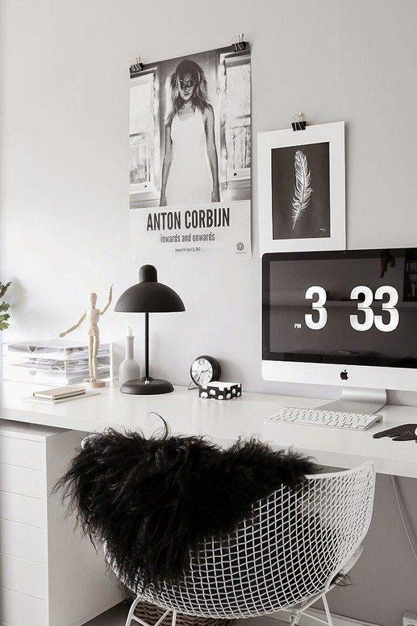 O Pelego Sintético Confere Charme Ao Home Office E Dá Uma Super Sensação De  Aconchego.