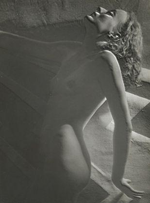 ca. 1930. Partially Solarized Nude. Henri Berssenbrugge