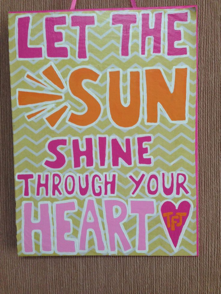 Cute canvas quote painting ideas for Good quotes to paint on my wall