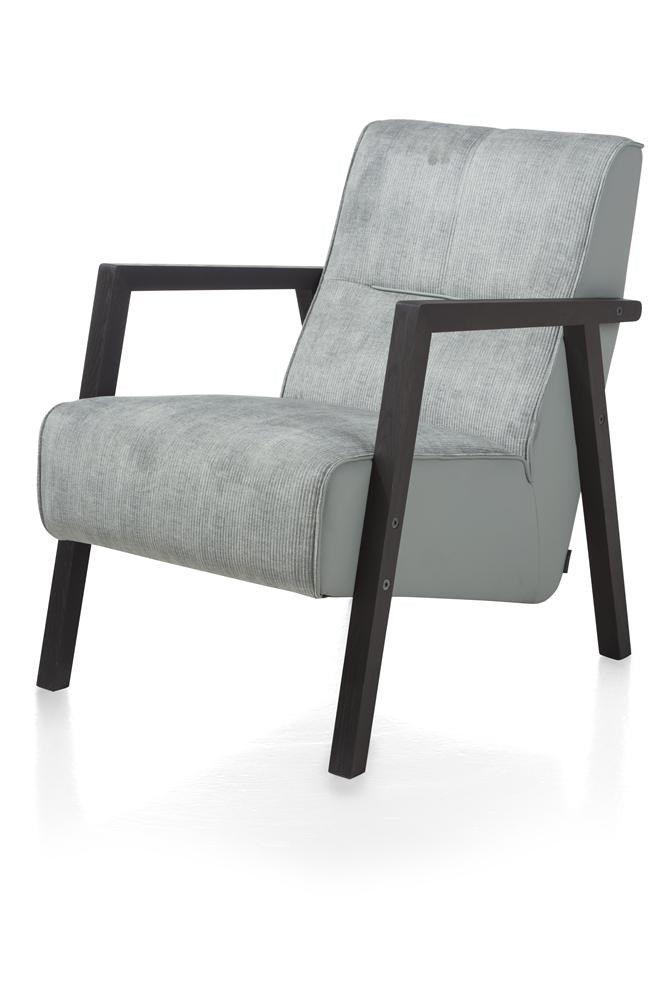Bueno Sessel Mit Holz Armlehne Vintage Clay White Black Xooon