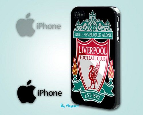 """Liverpool Football Club 2 Print on Hard Plastic For iPhone 5 Case, Black Case  This case is available for: iPhone 4/4S iPhone 5/5S iPhone 6 4.7"""" screen Samsung Galaxy S4 Samsung Galaxy S5 iPod 4 iPod"""