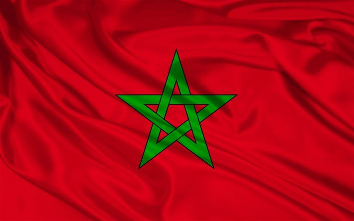 Moroccan flag, silk, flag of Morocco, flags, Morocco flag