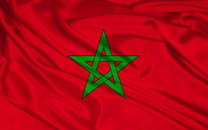 Moroccan flag, silk, flag of Morocco, flags, Morocco flag