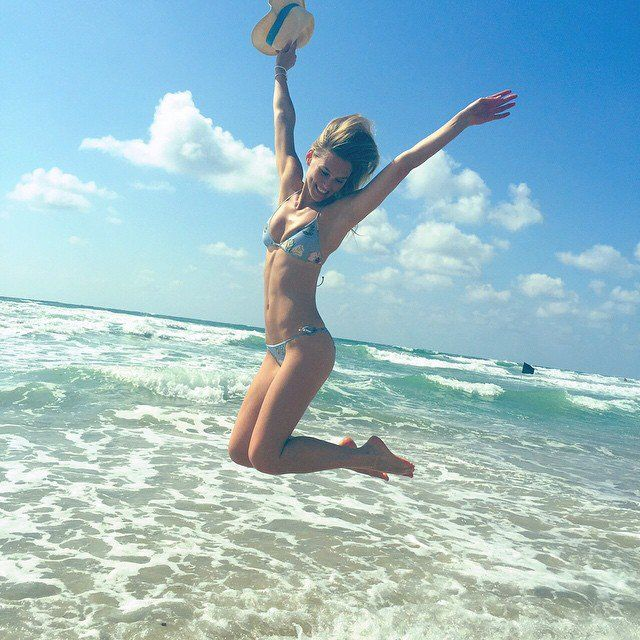 Pin for Later: Celebrity Summer Vacations That Are Sure to Make You Jealous Bar Refaeli Bar lived it up, as usual, on a sunny beach vacation.