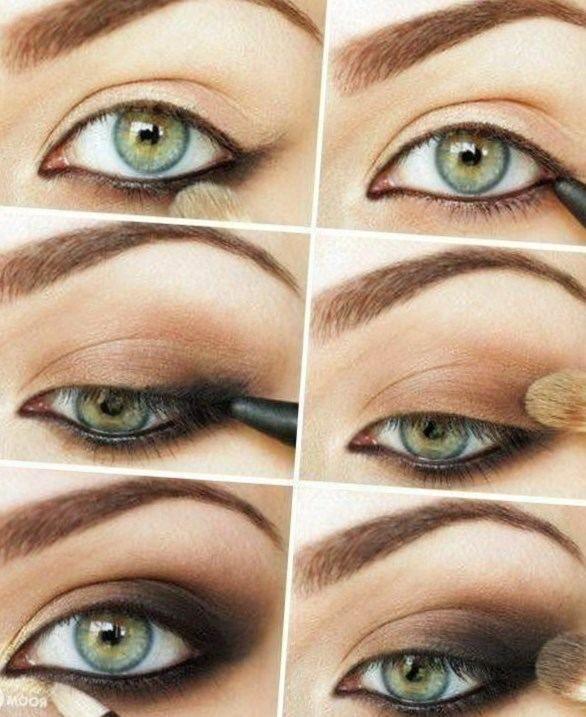 Maquillage yeux bleu vert - http://lookvisage.ru/maquillage-yeux-bleu-vert/ #Cheveux #Beauté #tendances #conseils