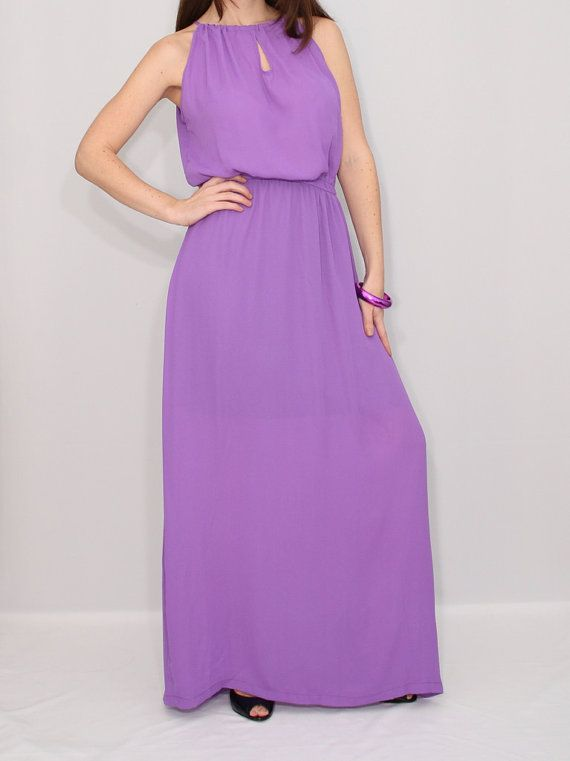 Lilac dress light purple dress chiffon dress maxi dress for Purple maxi dresses for weddings