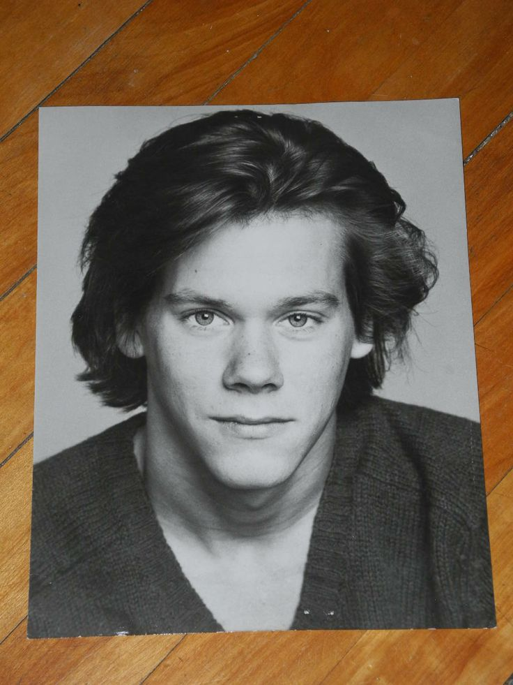 Young kevin bacon | Vintage 1980 Young Actor Kevin Bacon Early Agency Headshot Portrait ...