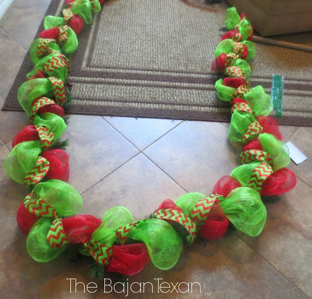 My husband is going to be so sick of mesh. But maybe I'll ditch the wreath and do this instead c: