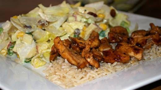 Recept - Kip met rijst en witlof-maissalade #NLFit