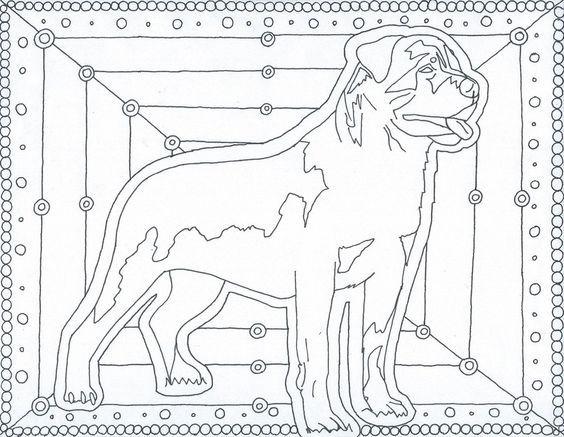 Pin van Barbara op coloring dog