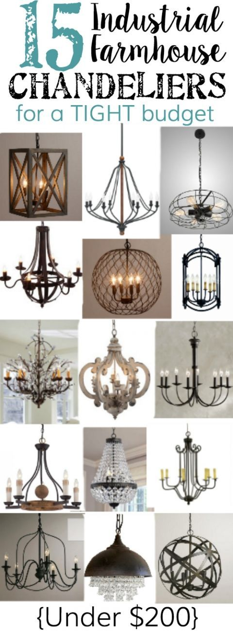 cool 15 Industrial Farmhouse Chandeliers for a Tight Budget - Bless'er House