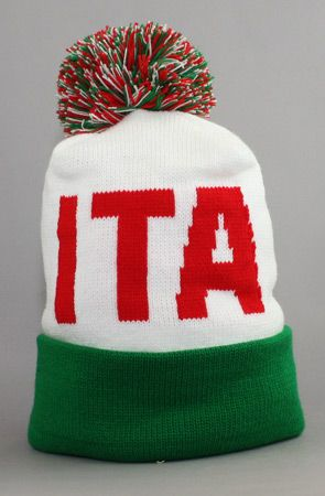 The Fully Laced X Adapt Olympia Collection ITALY Beanie (White/Red/Green) by Fully Laced