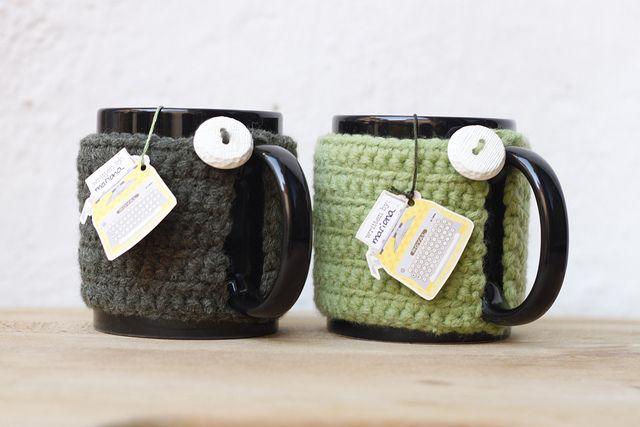Abrigos para tazas (crochet)