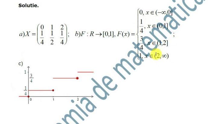 X-Statistica si probabilitati-Variabile valeatoare-Exersare
