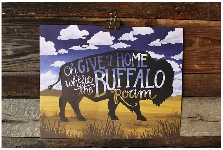 Celebrate America with this stunning print. Great American Buffalo shape over waves of grain and a big open sky. The Great Wide Open Collection celebrates the beautiful, majestic places of untouched A