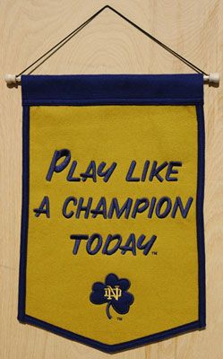 Notre Dame Fighting Irish Play Like A Champion Traditions Banner