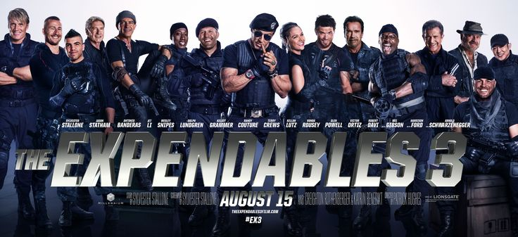 Expendables 3 - I liked this movie, buuuut! There are way too many characters!! Also, I think in everyone of the films someone has to get hurt really bad or die for them to have a reason to go after the main bad guy. It's time to come up with a new reason.  Anyway, I really liked Antonio Banderas in this.