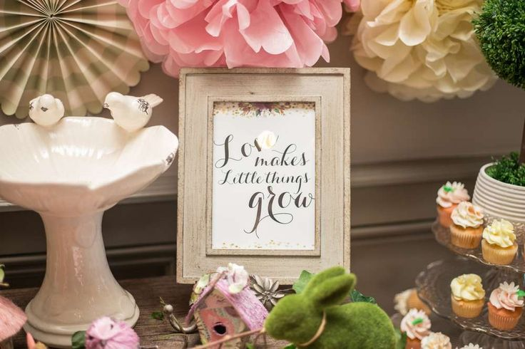 Enchanted Garden Baby Shower Party Ideas | Photo 3 of 76