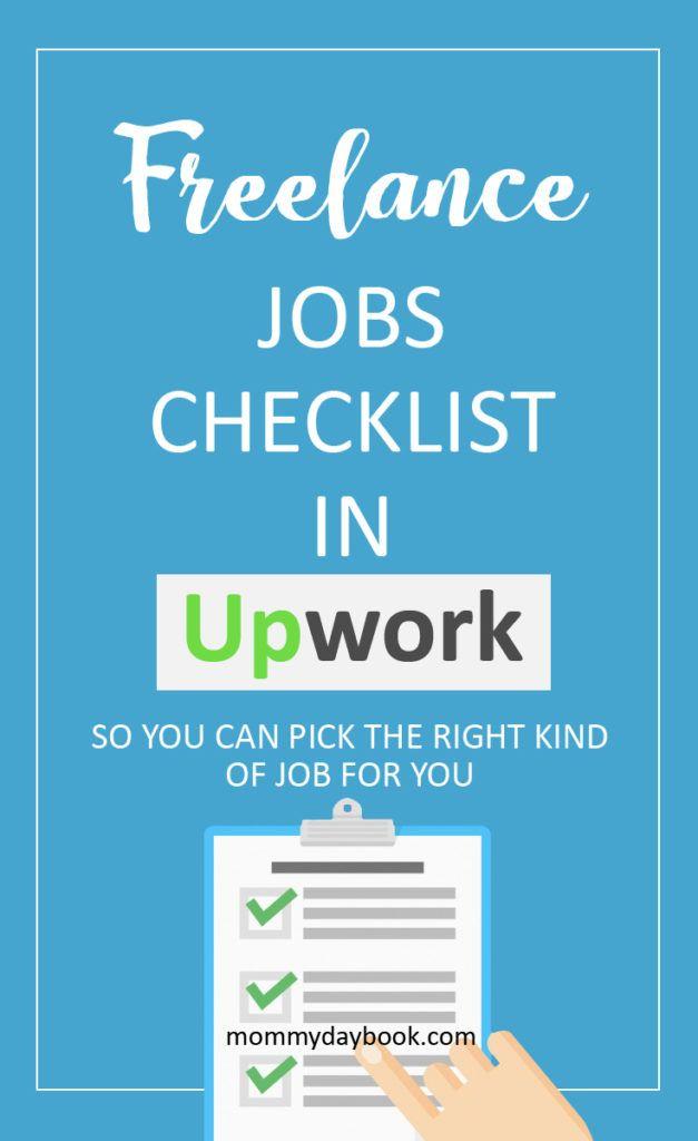 Freelancing Jobs Checklist In Upwork Com Mommy Daybook Freelancing Jobs Checklist Job