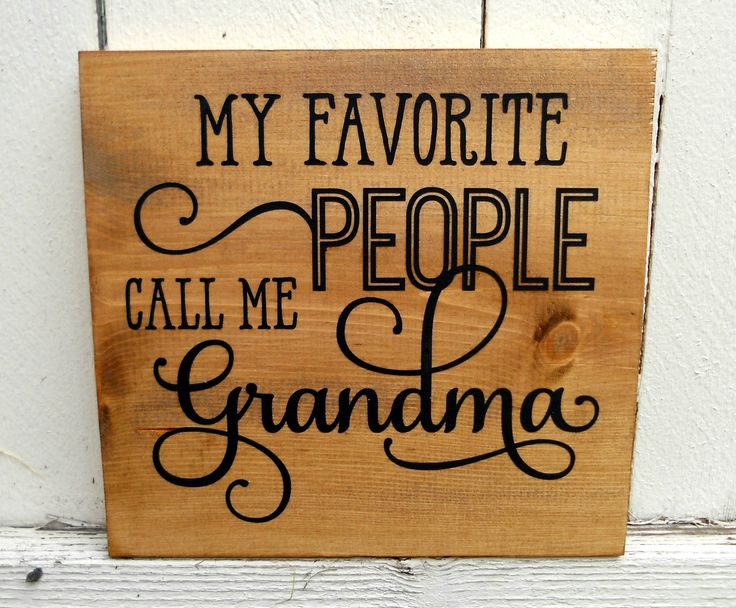 12x12 My Favorite People Call Me Grandma Sign - Gift For Grandma - Present For Grandmother